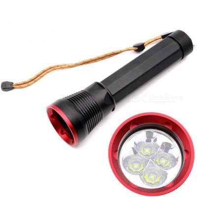 AIBBER TONE 4 x XML2 L2 U2 LED Stepless Dimming Diving Flashlight Torch, Searchlight Lamp for Camping Hunting
