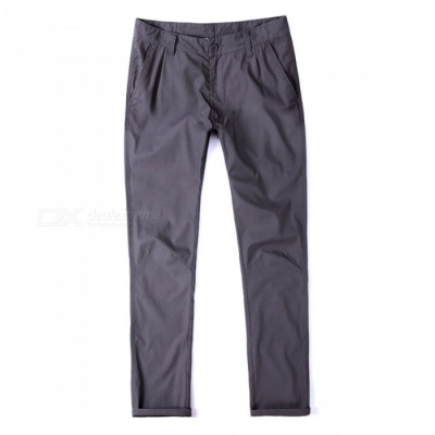 CTSmart 1682 Spring Summer Men's Casual Outdoor Slim Thin Quick-Dry Pants Trousers - Grey (40)