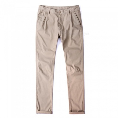 CTSmart 1682 Spring Summer Men's Casual Outdoor Slim Thin Quick-Dry Pants Trousers - Khaki (33)