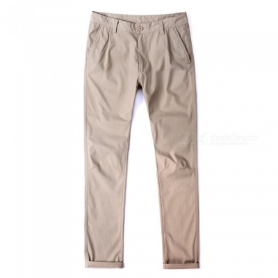 CTSmart 1682 Spring Summer Men's Casual Outdoor Slim Thin Quick-Dry Pants Trousers - Khaki (36)