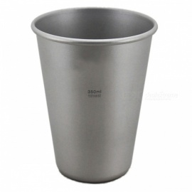 Ti9001 T350ML Titanium Drinking Water Coffee Beer Cup, Tumbler Picnic Tea Cup