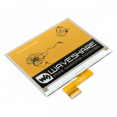 Waveshare 400x300 4.2 Inches E-Ink Raw Display, Yellow / Black / White Three-color