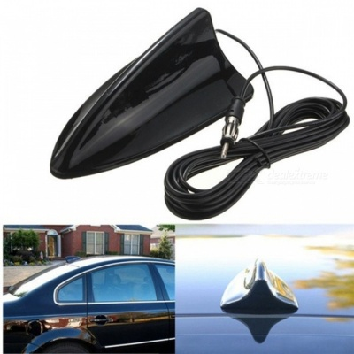 Qook Black Universal Shark Fin Car Truck RV Radio Stereo Antenna Aerial for BMW