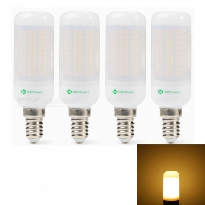 Sencart 4pcs E14 8W 800LM SMD Warm White Energy Saving LED Light Bulb Lamp Matte Shell AC 220-240V