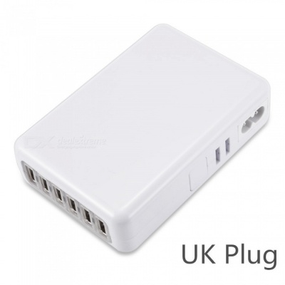 5V 4A 6 USB Ports Fast Quick Charge Charger for IPHONE 7 / 8 / X / SamSung - UK Plug / 100-240V