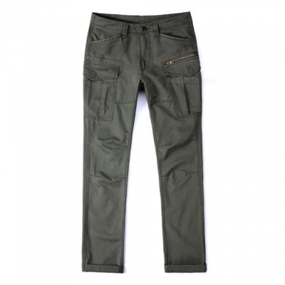 CTSmart 1686 Spring Summer Men's Casual Outdoor Slim Quick-Dry Pants Trousers - Army Green (34)