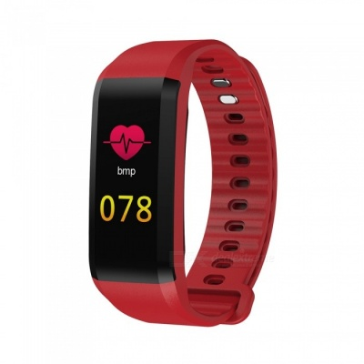 TF4 Color Screen Waterproof Sports Smart Bracelet with Heart Rate Monitor, Sleep Monitoring - Red