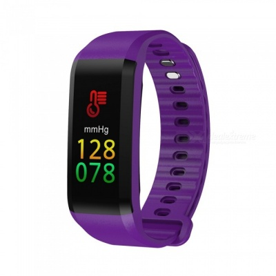 TF4 Color Screen Waterproof Sports Smart Bracelet with Heart Rate Monitor, Sleep Monitoring - Purple