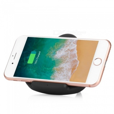 Triangle Holder 5V 1A Fast Wireless Charging Charger for Note 8 / S8 / S7, IPHONE 8 / 8 Plus / X - Black