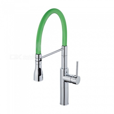 F-9112C Brass Chrome 360 Degree Rotatable Ceramic Valve Single Handle One-Hole Kitchen Faucet