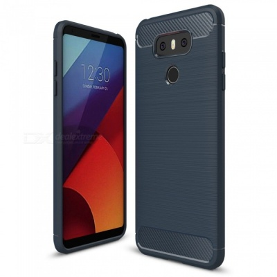 Naxtop Wire Drawing Carbon Fiber Textured TPU Brushed Finish Soft Phone Back Cover Case For LG G6