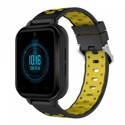 New Q1 Pro 4G Full Network Four Core Smart Watch Bracelet with Blood Pressure / Heart Rate Monitoring, 4G HD Video Call - Yellow