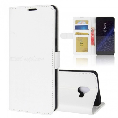 Protective PU Leather Case for Samsung C10 - White