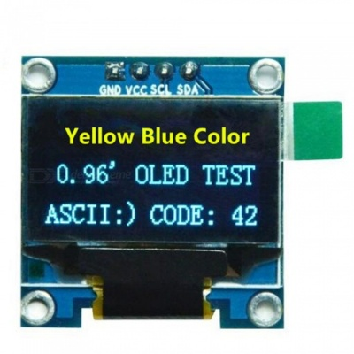 "Produino 0.96"" I2C IIC SPI Serial 128X64 Yellow & Blue OLED LCD LED Display Module for Arduino"