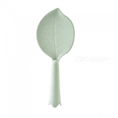 Creative Wheat Straw Leaf Shape Non-Stick Vertical Rice Meal Spoon - Light Green