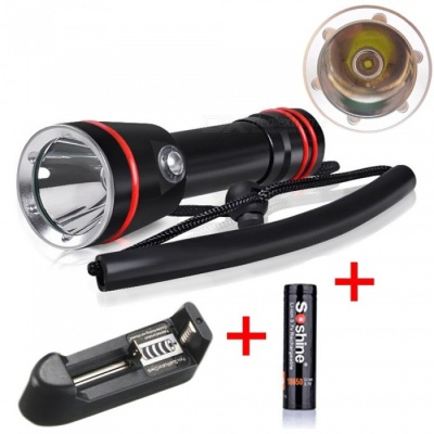 AIBBER TONE Professional Underwater 100 Meters Waterproof Dive Flashlight LED Diving Flashlight Torch Lamp Light