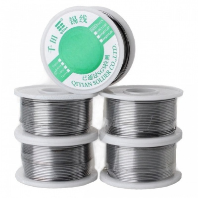High-Quality Tin Solid Solder Wire Reel Spool - Silver (1.2mm / 100G, 5PCS)