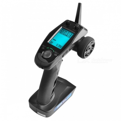 Flysky FS-GT5 2.4G 6CH Transmitter with FS-BS6 Receiver, Built-in Gyro Fail-Safe for RC Car Boat