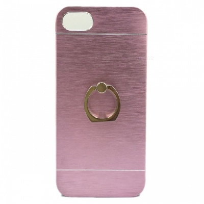Ultra Thin Aluminum Case with 360 Degree Rotation Finger Ring Stand Holder Cover for IPHONE 7 - Pink