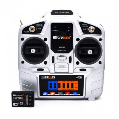 MC6C Remote Control 2.4G Receiver for Fixed Wing Aircraft - Silver