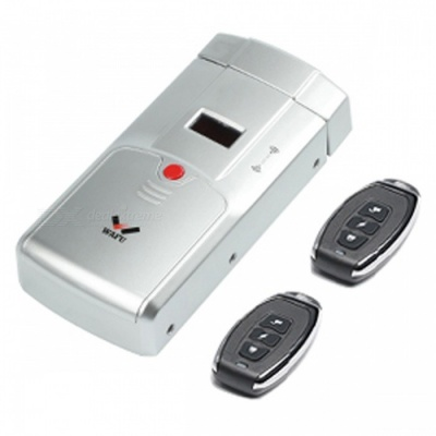 WAFU WF-011A Security Keyless Smart Remote Door Locks, Wireless Invisible Anti-theft Lock with 4 Remote Keys - Silver