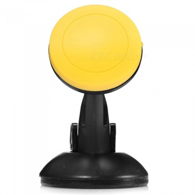 Magnetic Absorption Mobile Phone Car Holder - Yellow
