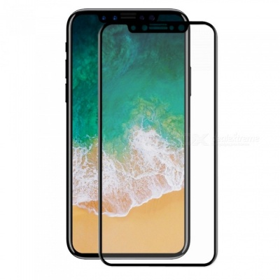 Hat-Prince 0.2mm 9H 3D Tempered Glass Full Cover Protector for IPHONE X - Black