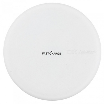 ASLING Ultra-thin Fast Charging Qi Wireless Charger Pad for IPHONE 8 / 8 Plus, IPHONE X - White