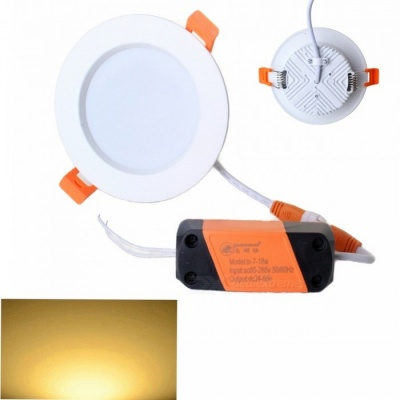 ZHISHUNJIA 7W 600lm 14-SMD 5730 LED Driver Warm White Light Ceiling Lamp with Driver (85~265V)