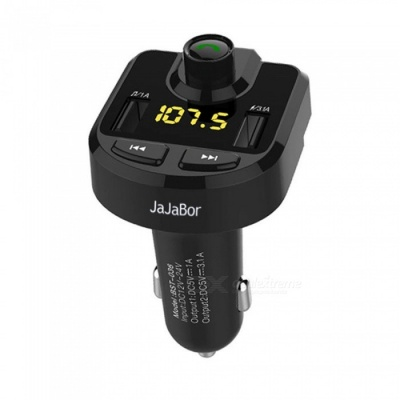 Bluetooth Car Kit FM Transmitter Hands-free MP3 Audio Player - Black