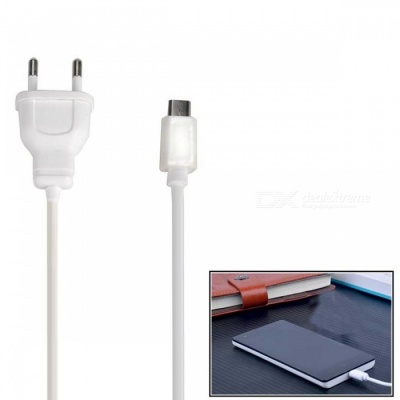 5V 1A Micro USB EU Plug Charger for Android Devices - White (AC 100-240V)