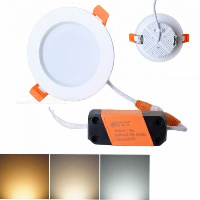 ZHISHUNJIA 7W 560lm 28-LED 5730 SMD Warm + White Light Ceiling Lamp with Driver (85~265V)