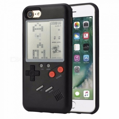 Classic Game Console Style Protective TPU Case Cover for IPHONE 6, 6S - Black
