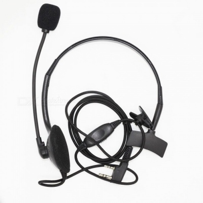 Unilateral Small K Head Headphone with Microphone Stick, VOX Function 5R / 888S - Black
