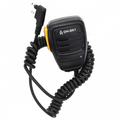 Ding Hong DH-SK1 Walkie-Talkie Hand Microphone for Kenwood, Quan Sheng, Baofeng UV5R / 888S - Orange + Black