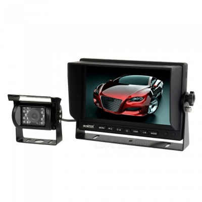 "OJADE 7"" Monitor with Wireless 170 Degree HD Bus Car Rear View Camera, High-Definition Wide Angle Waterproof CMD Camera"