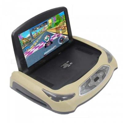 """OJADE Car TV 9"""" LCD TFT Monitor with Remote Controller, Supports HDMI USB FM"""