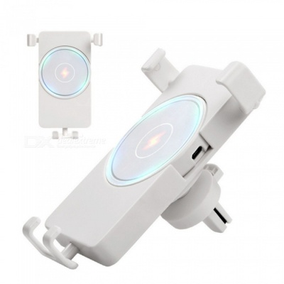 ZHAOYAO Car Outlet Wireless Charger Bracket Stand for GPS, Mobile Phone - White