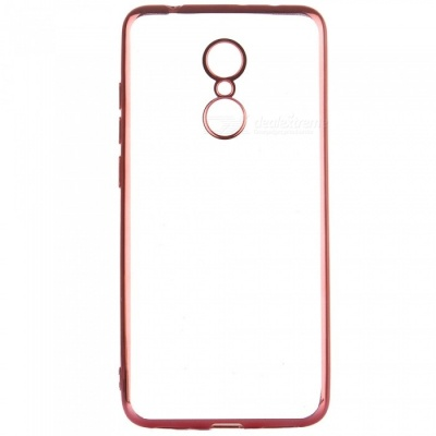 ASLING Transparent Back Case for Xiaomi Redmi 5, Electroplating TPU Soft Cover Protector - Rose Golden