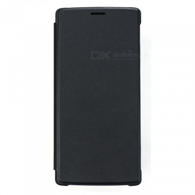 DOOGEE PU Plastic Protective Flip-Open Case for DOOGEE MIX2 - Black