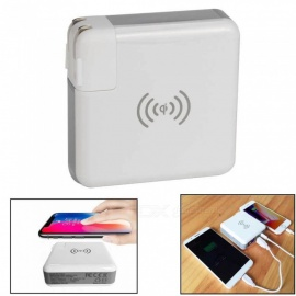 3-in-1 Wireless Mobile Phone USB Charger Adapter, Power Bank (US Plug)