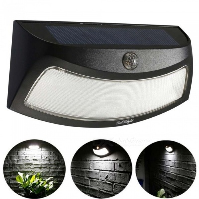 YouOKLight Solar Powered Motion Sensor Wall Lamp, Smiling Face LED Light for Courtyard Garden Road Outdoor Lighting