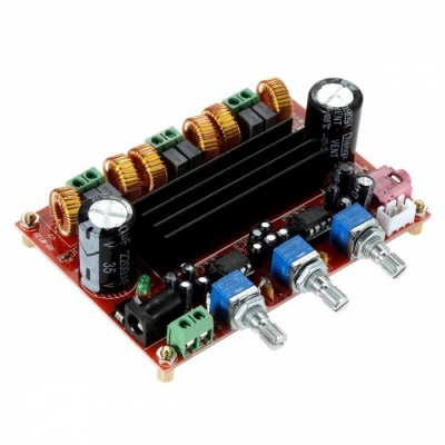 XH-M139 2.1 Channel Digital Amplifier Board Module with 12V-24V Wide Voltage, TPA3116D2 2*50W+100W