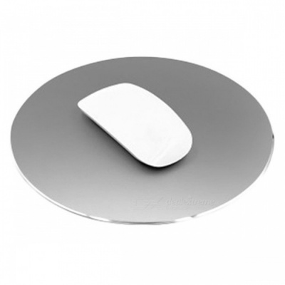 220 x 220mm Aluminium Alloy Round Shaped Mouse Pad - Grey