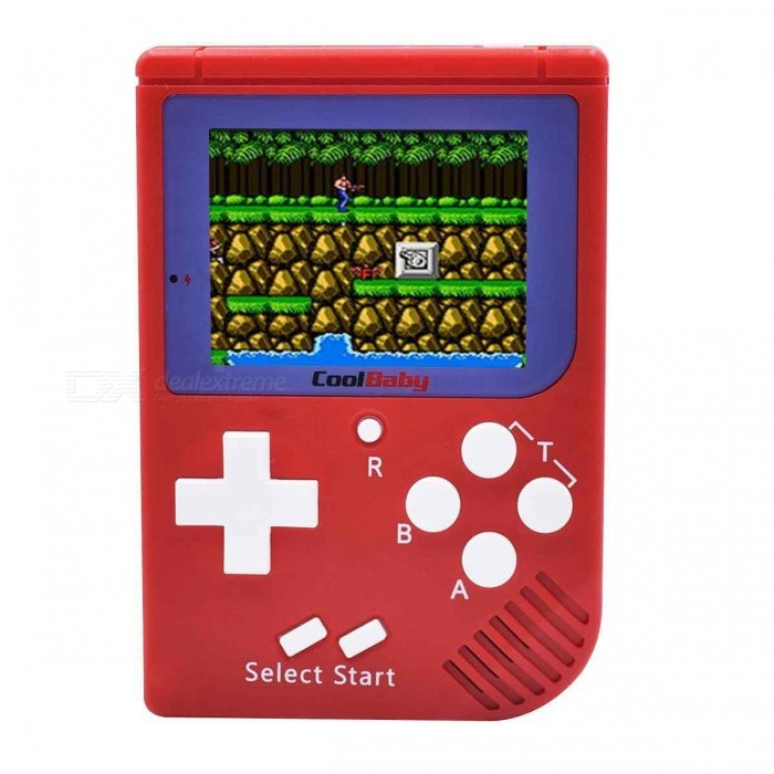 """2.4"""" TFT Mini Handheld Game Playing Console - Red"""