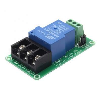 Geekworm 1 Channel 5V 30A LED Indicator Relay Module with Optocoupler Isolation High & low Level Trigger