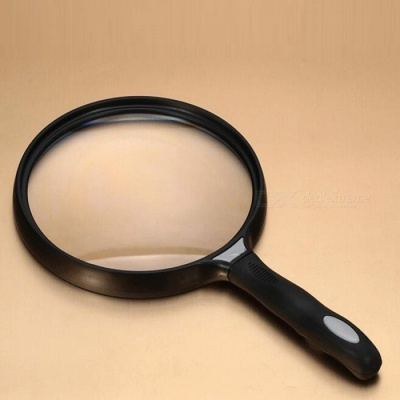OJADE Handheld 2.5X 130mm Lens Magnifying Glass, Jewelry Magnifier for Reading Map Paper