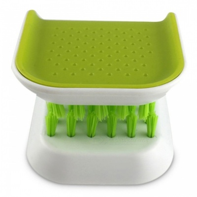 Portable Knife and Fork Cleaning Brush, Kitchen Utensils - Green