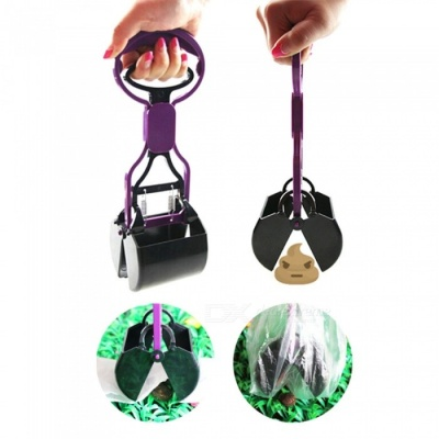 Poratble Pooper Scooper Clamp for Pet Dog - Purple