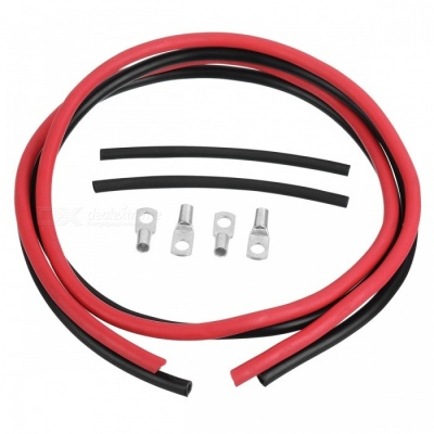 Jtron 8AWG Silicone Copper Wires Cables Set - Red + Black (50cm)